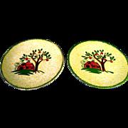 Blue Ridge Southern Potteries Weather Vane Dessert Plates