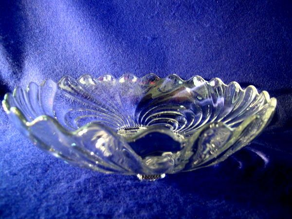 "Cambridge Glass  4 Footed  ""Caprice""  Salad or Fruit Bowl"