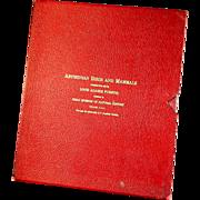 Original 1930's Louis A. Fuertes Portfolio Abyssinian Birds & Mammals
