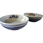 Buffalo Pottery Set of Two Cereal Bowls Lune 612 Pattern