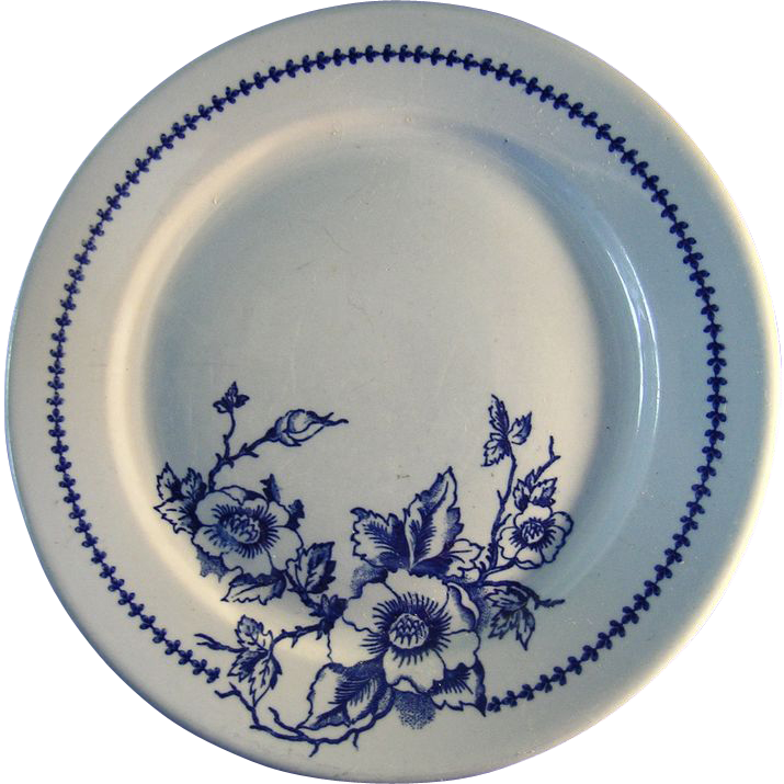 Set of Five Buffalo Pottery Dinner Plates Pattern Lune 612
