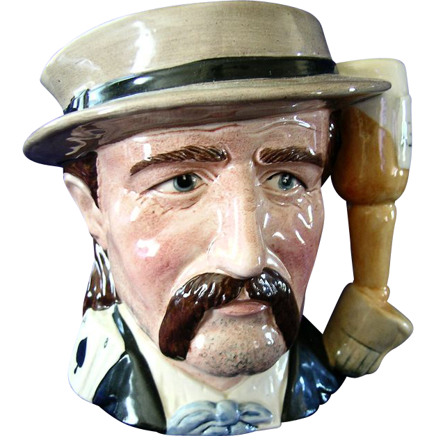 Royal Doulton Wild Bill Hickock  Large Pitcher  (Hickok) Character Mug Toby