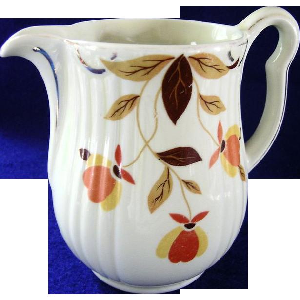 Autumn Leaf Cream Pitcher  Hall Jewel Tea
