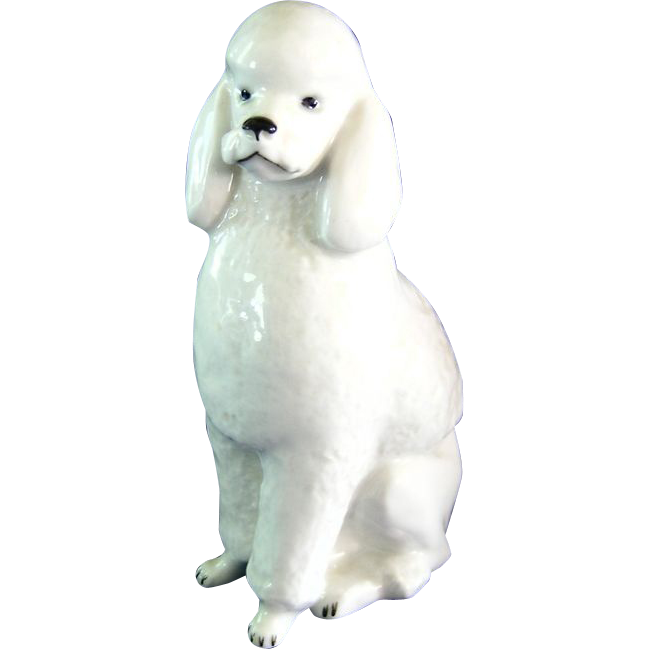 USSR Lomonosov Porcelain Poodle