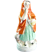 Original Staffordshire Little Red Riding Hood Figurine
