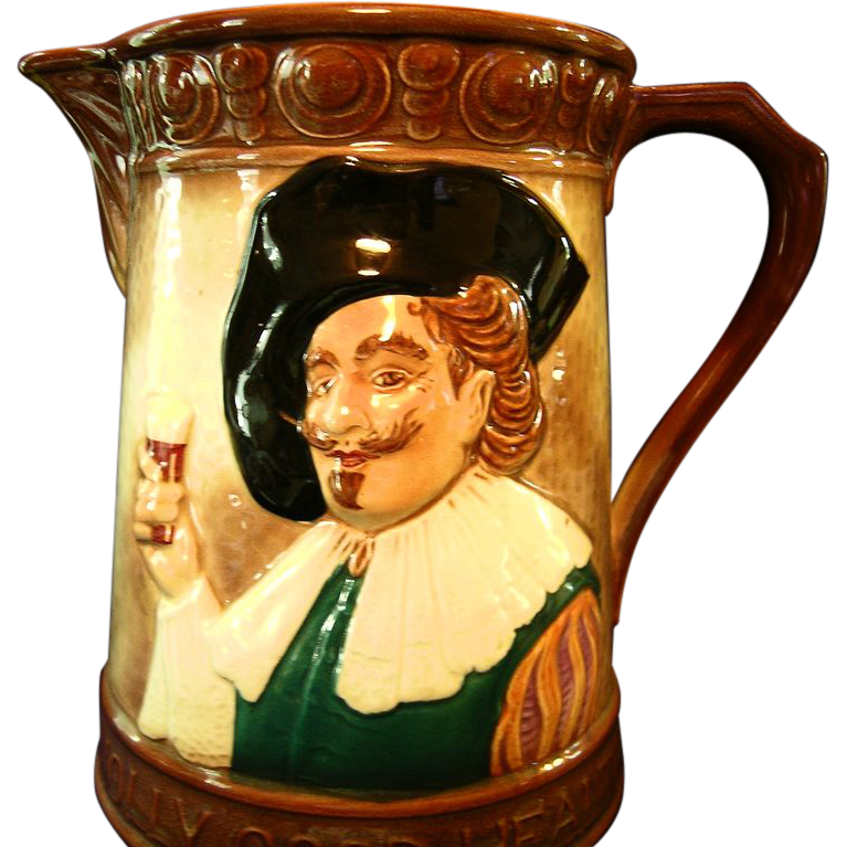 """English """"Cavalier"""" Large Pitcher by Falcon Ware"""