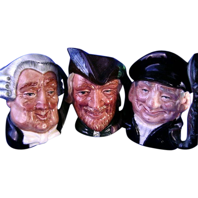 Three Royal Doulton Toby Mugs *Robin Hood*Lobster Man & Lawyer
