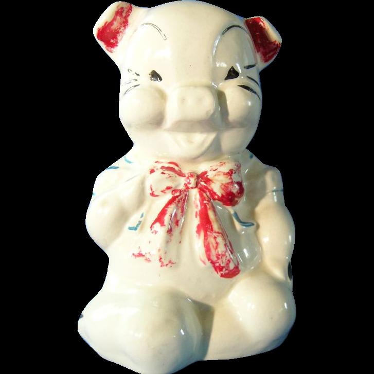 Vintage Lefton Ceramic Piggy Bank ...Still Bank