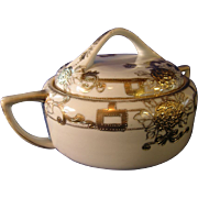 Lovely Nippon Covered Biscuit or Cracker Jar
