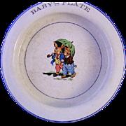 Sweetheart Bunny Baby's Dish  ** Wellsville China