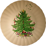 Blue Ridge Southern Potteries Christmas Tree Plate