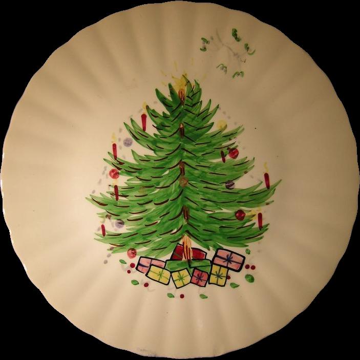 Blue Ridge Southern Potteries Christmas Tree Plate