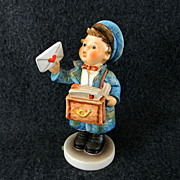 Postman Eilbote Hummel Figurine Artist Signed - Red Tag Sale Item