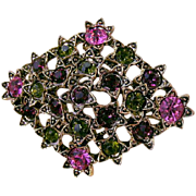 Beautiful Vintage Rhinestone Brooch