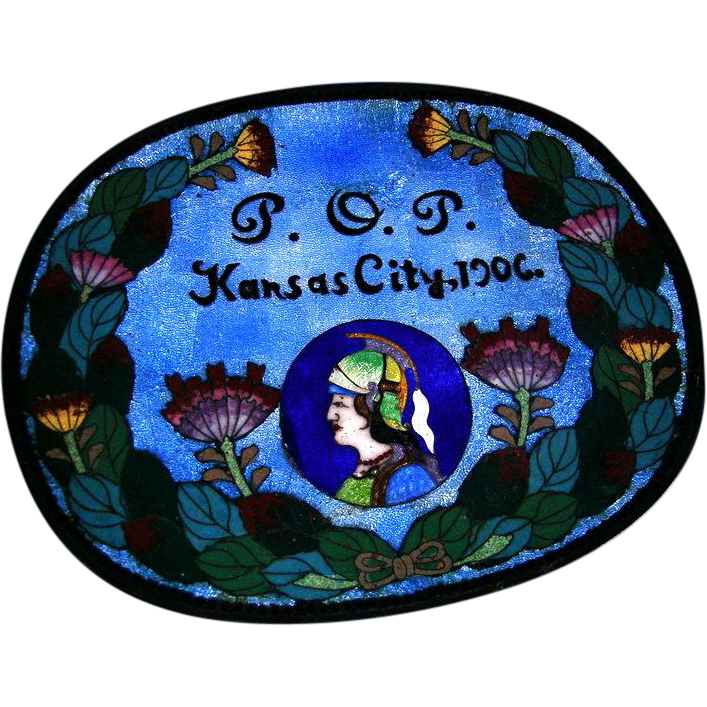1906 Priests of Pallus Cloisonne Dresser Tray Kansas City Missouri