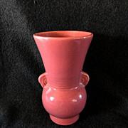 1930's Brush McCoy Large Pink Vase