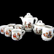 Vintage  Children's Porcelain Tea Set  **  made in Germany **