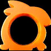 Bunny Rabbit Bakelite Napkin Ring