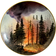 Very Unusual and Interesting Austrian Painted Plate by Adolph Heidrich