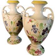 A Set of Southern Potteries Blue Ridge 8 Inch Vases - Red Tag Sale Item