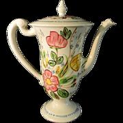 Blue Ridge Southern Potteries Chocolate Pot Rose Marie Pattern