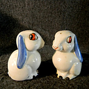 Unusual Cork Stoppered Rabbit Salt & Pepper Shakers * Germany