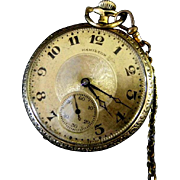 Hamilton 17 Jewel Open Face Grade 910 Pocket Watch ***Running***
