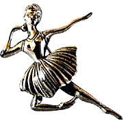 Lovely Ballerina Beaucraft Sterling Silver Pin