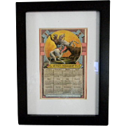 1883 Dr. Morses Indian Root Pills Store Card and Calender