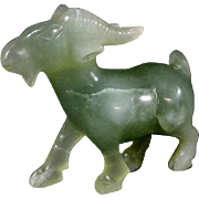 Jade Goat Carving