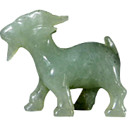 Jade Goat Figurine Carving