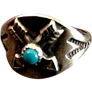 Sterling Silver & Turquoise Southwest Jewelry Ring