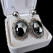 Lovely Sterling Silver &  Black Hematite Earrings