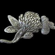 Morse Bros. Bumble Bee on Clover Pin