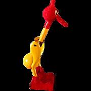 """Vintage """"Glub-Glub"""" Bird or Dippy Duck * Drinking Bird * Bobble Bird * Happy Bird Toy"""
