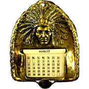 Native American Indian Brass Calendar Cheyenne Wyoming
