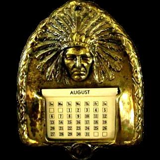 Native American Indian Brass Calendar Cheyenne Wyoming