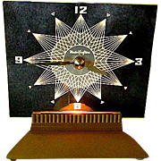 "Mastercrafters Art Deco Electric Clock with Light ""Starlight"" Model 146"