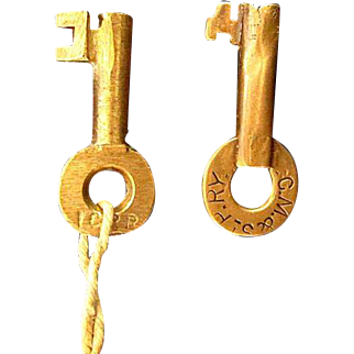 Two Old Railroad Keys...  Chicago, Milwaukee & St. Paul and Illinois Central