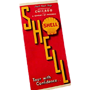 Shell Oil Company Road Map Century of Progress & Metropolitan Chicago