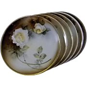 RS Germany Yellow Rose Platter and Sandwich Dishes