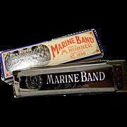 Hohner Marine Band Harmonica key of F with Original Box