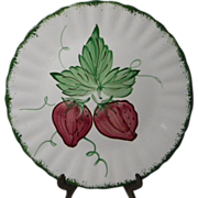 Blue Ridge Southern Potteries Wild Strawberry Dinner Plate