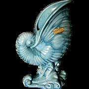 Blue Royal Haeger Nautilus Vase