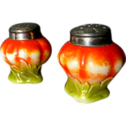 Victorian Glass Tomato Salt & Pepper Shakers