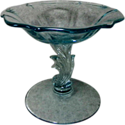 Fostoria Baroque Blue Compote or Comport