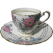English Tuscan Bone China Demitasse Cup & Saucer