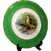 Vintage R.K. Beck Woodcock Game Plate