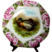 Two Vintage  Game Plates Mallard & Widgeon