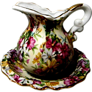 Royal Chintz Cream Pitcher w/ Underplate